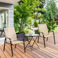 2 Pcs Patio Outdoor Dining Chair with Armrest