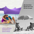 10 Foot Ride 9 Foot Family Beach Tent Canopy Sunshade with 4 Poles