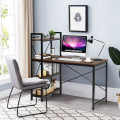 """47.5"""" Writing Study Computer Desk with 4-Tier Shelves"""