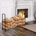 8 Feet Outdoor Steel Firewood Log Rack