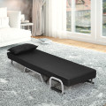 Folding 5 Position Convertible Sleeper Bed Armchair Lounge Couch with Pillow