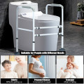 Stand Alone Toilet Safety Rail with Adjustable Handrail Frame