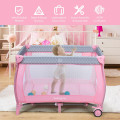 Portable Foldable Baby Playard Nursery Center with Changing Station