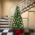 7 ft Premium Hinged Artificial Christmas Tree with Pine Cones