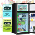 2 Doors Cold-rolled Sheet Compact Refrigerator