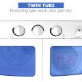 17.6 Lbs Compact Twin Tub Washing Machine Washer Spin Dryer