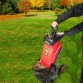 15Amp Electric Wood Chipper Garden Shredder with Wheel