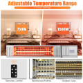 1500W Infrared Patio Heater with Remote Control and24H Timer for Indoor Outdoor