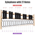 27 Note Glockenspiel Xylophone with 2 Rubber Mallets