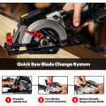 3600 RPM Multifunctional Mini Electric Circular Saw with Laser Guide and 6 Blades