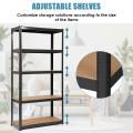"""72"""" Steel Storage Shelf with 5 Levels Adjustable Shelves"""