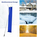 20/21 ft Lightweight Roof Snow Rake Removal Tool  with Adjustable Telescoping Handle