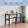 53 Inch Adjustable Heavy-Duty Workbench with Rubber Wood Top