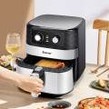 1700W 5.3 QT Electric Hot Air Fryer with Stainless steel and Non-Stick Fry Basket