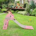 3 in 1 Kids Slide Baby Play Climber Slide Set with Basketball Hoop