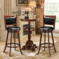 """29"""" Swivel Bar Height Stool Wooden Upholstered Dining Chair"""