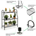 3-Tier Scrollwork Designed Metal Plant Stand