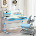Adjustable Height Study Desk with Drawer and Tilted Desktop for School and Home