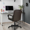 Adjustable Leather Executive Office Chair Computer Desk Chair with Armrest