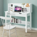 Home Office Computer Desk with Storage Shelves and Drawer Ideal for Working and Studying