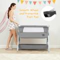 Baby Bed Side Crib Portable Adjustable Infant Travel Sleeper Bassinet