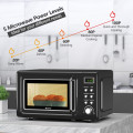 700W Retro Countertop Microwave Oven with 5 Micro Power and Auto Cooking Function