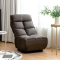Swivel Folding Floor Gaming Chair with 6 Adjustable Positions  and Metal Base