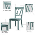 Set of 2 Cross Back Wood Dining Chair