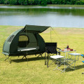 2-Person Foldable Outdoor Camping Tent Cot with Air Mattress and Sleeping Bag