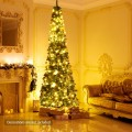 PVC Artificial Slim Pencil National Christmas Tree with Metal Stand