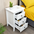 Modern Bedside Cabinet with 3 Drawers for Living Room and Bedroom
