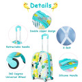 2 Pieces Kids Luggage Set 12-inch Backpack and 16-inch Rolling Suitcase Travel