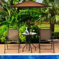 Patio Dining Set with Patio Folding Chairs and Table
