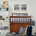 Twin Captain's Bed with Trundle Bed with 3 Storage Drawers