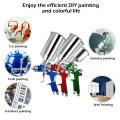 3 HVLP Auto Paint Car Primer Air Spray Gun Kit