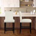 25 Inch Kitchen Chairs w/ Rubber Wood Legs