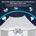 2 in 1 Foldable Crib with Detachable & Thicken Mattress