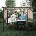 10' x 10' Metal Frame Patio Furniture Shelter