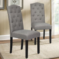 Set of 2 Tufted Upholstered Dining Chair