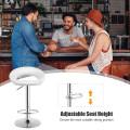 Set of 2 Bar Stools Adjustable PU Leather Swivel Chairs