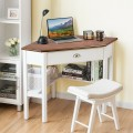 Corner Wooden PC Laptop Computer Desk