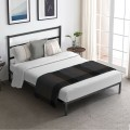 Twin/Full/Queen Size Metal Bed Platform Frame with Headboard