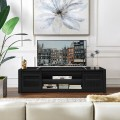 """TV Stand Entertainment Center for TV's up to 65"""" with Cable Management and Adjustable Shelf"""
