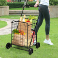Portable Folding Shopping Cart Utility for Grocery Laundry