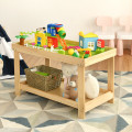 Solid Multifunctional Wood Kids Activity Play Table
