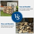 4ft Heavy Duty Firewood Log Rack for Fireplace Stove Fire Pit