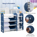 Kids Toy Storage Organizer with Bins and Multi-Layer Shelf for Bedroom Playroom
