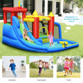 Inflatable Bouncer Bounce House with Water Slide Splash Pool without Blower