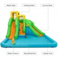Inflatable Water Park Bounce House with Climbing Wall Without Blower