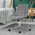 Fabric Adjustable Mid-Back Armless Office Swivel Chair